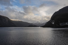Crossing fjords in Southern Chile Stock Images