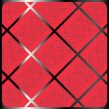 Crossing geometric pattern. Crossing diagonal stripes geometric pattern. Abstract red background. Print in a cage with polka dot. Digital Illustration. For Art stock illustration