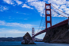 Crossing the Golden Gate. We all love the view of the Golden Gate from the other side, but this picture shows that it is beautiful from every angle Royalty Free Stock Image