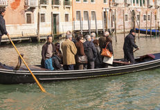 Crossing the Grand Canal on a Tranghetto Stock Photography