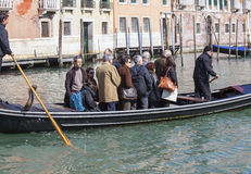 Crossing the Grand Canal on a Tranghetto Stock Photo