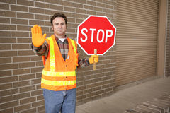 Crossing Guard at School Stock Images