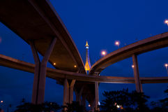 Crossing highway bridge Stock Photos
