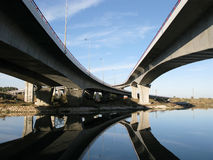 Crossing highway viaducts Stock Photos