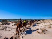 Crossing on the horseback in Kalbarri Royalty Free Stock Photo
