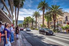 Crossing Las Vegas Boulevard Stock Images