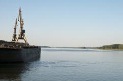 Crossing the leg of Danube delta. In macin Romania Stock Photos