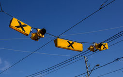 Crossing lights in Toronto Stock Photography