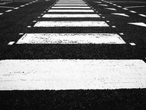 Crossing lines on the ground Royalty Free Stock Images
