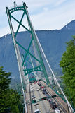 Crossing Lions Gate Bridge Royalty Free Stock Photo