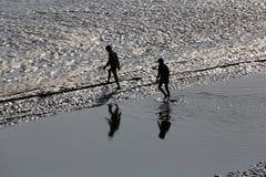 Crossing Malta river, West Bengal, India Stock Photo