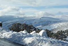 Crossing Mount Hotham Australia Stock Photos