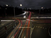Crossing at night stock photo