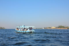 Crossing of the Nile in Egypt. Crossing of the Nile River in Luxor Egypt Royalty Free Stock Image