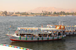 Crossing of the Nile in Luxor Egypt Royalty Free Stock Photo