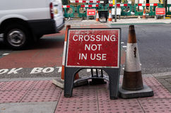 Crossing not in use Stock Photos