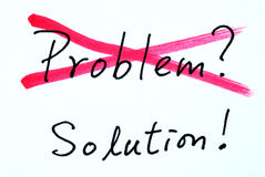 Crossing out problem and finding the solution Stock Photos