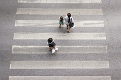 Crossing Pedestrian Royalty Free Stock Images