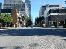 Crossing pedestrian royalty free stock image