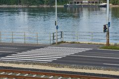 Crossing for pedestrians Stock Image