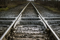 Crossing Rail Road Stock Image