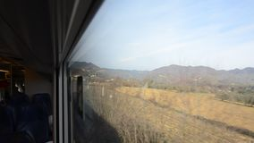 Crossing rail seen from the train. Crossing rail seen from inside the train stock video footage
