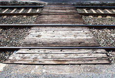 Crossing of the railroad royalty free stock photos