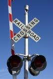 crossing railroad Στοκ Εικόνες