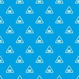 Crossing railroad barrier pattern vector seamless blue. Repeat for any use vector illustration