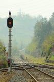 Crossing railroad Royalty Free Stock Image