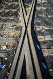 Crossing railway Stock Images