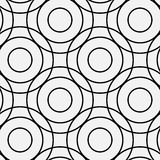 Crossing rings pattern. Circle pattern  including seamless sample in swatch panel Stock Photo