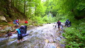 Crossing the River stock footage