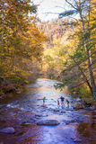 Crossing river in Smoky Mountains Stock Photos