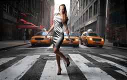 Crossing road Royalty Free Stock Photography