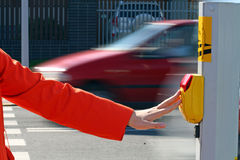 Crossing the road Royalty Free Stock Image