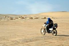 Crossing sahara. Paris Dakar Royalty Free Stock Images