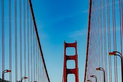 Crossing the San Francisco Golden Gate Bridge royalty free stock photo