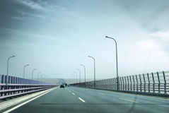Crossing Sea Bridge Royalty Free Stock Photography