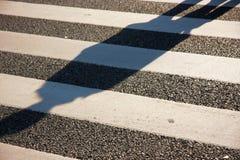 Crossing shadow Stock Photos
