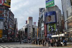 Crossing Shibuya Tokyo Japan Stock Photos