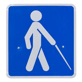 Crossing sign blind Royalty Free Stock Photo