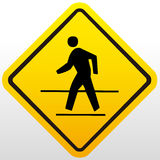 Crossing sign Stock Images