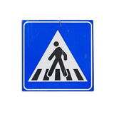 Crossing sign on white Royalty Free Stock Photo