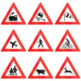 Crossing Signs in Austria Royalty Free Stock Photography