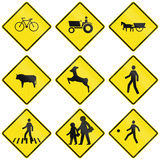Crossing Signs In Chile Royalty Free Stock Images