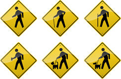 Crossing Signs Stock Photo