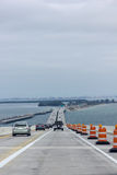 Crossing the Skyway Bridge. Approaching St Petersburg Florida from the south stock photos