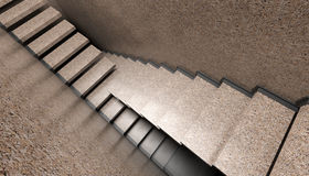 Crowded Stairs Royalty Free Stock Photos