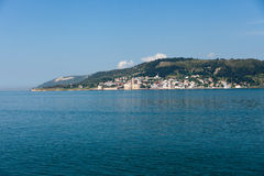 The crossing through the strait of Dardanelles Stock Photography